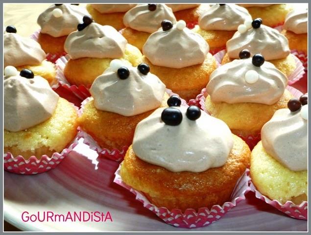 image Minis cupcakes ganache montée au chocolat caramel
