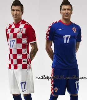 Le maillot de la Croatie de la Coupe du monde 2014