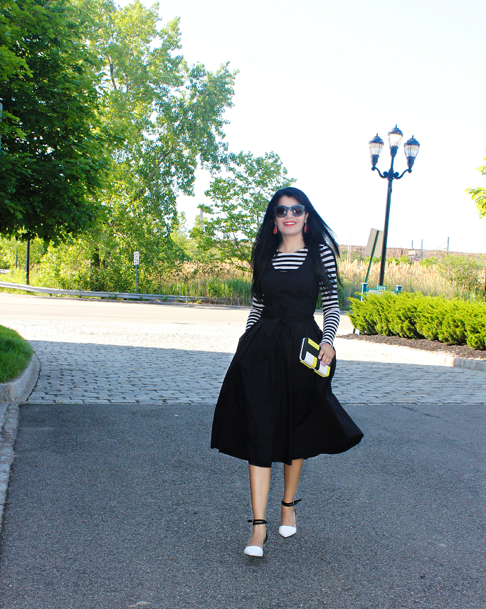 How to wear retro dress, Vintage dress with modern style, Zara Crop top