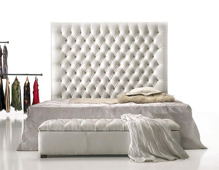 Dormitorios con cabeceros tapizados camas tapizadas for Isabelinas modernas