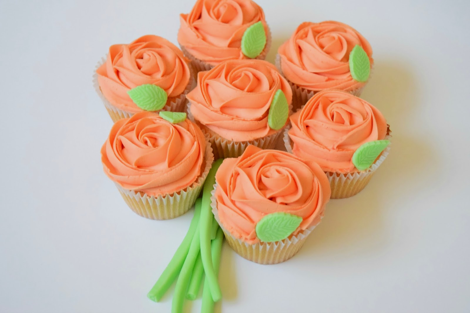 Cupcake, Bouquet, Mothers Day, Roses, Peach, Dairy Free, Cake