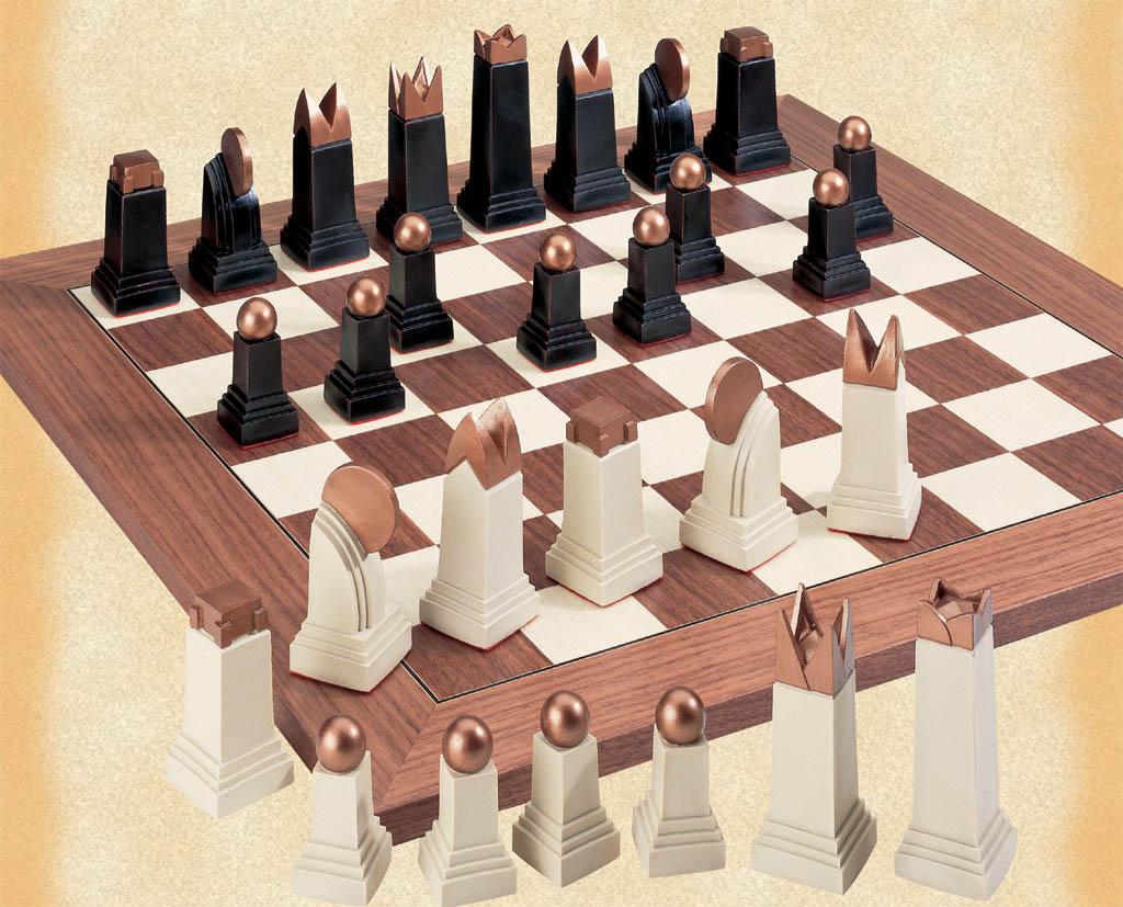 Chess talk the art deco chess set - The chessmen chess set ...