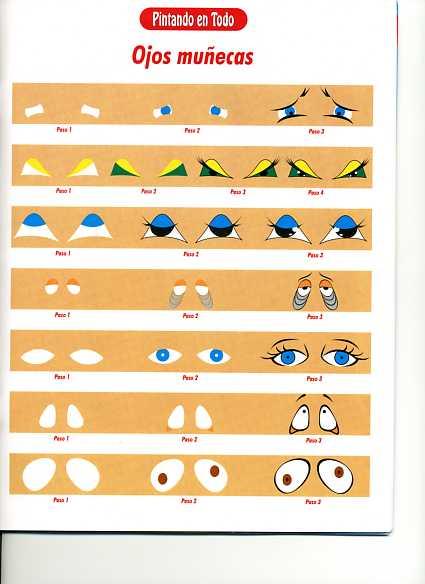 Dibujos y Plantillas para imprimir: Como pintar ojos para munecos ...