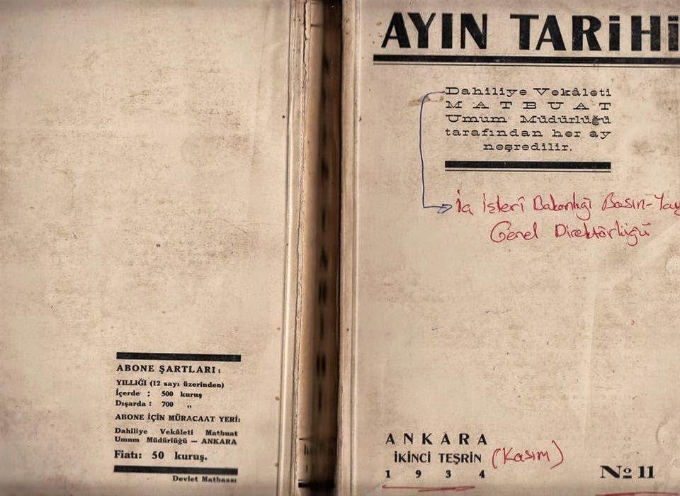 """CHP'nin 1934 yılı baskı Kitabı""""Atatürk Kur'an'ı küçümseyerek yere attı"""""""