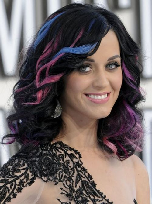katy perry with colored hair