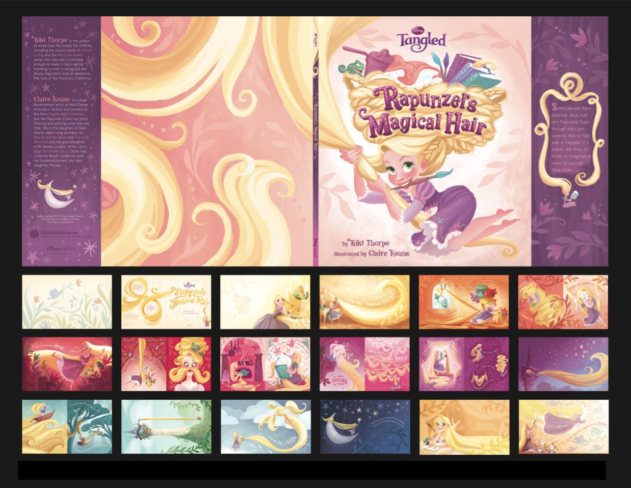 Dibujos de Enredados - Rapunzel para imprimir