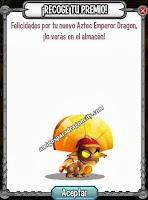 imagen del premio de emperador azteca de dragon city