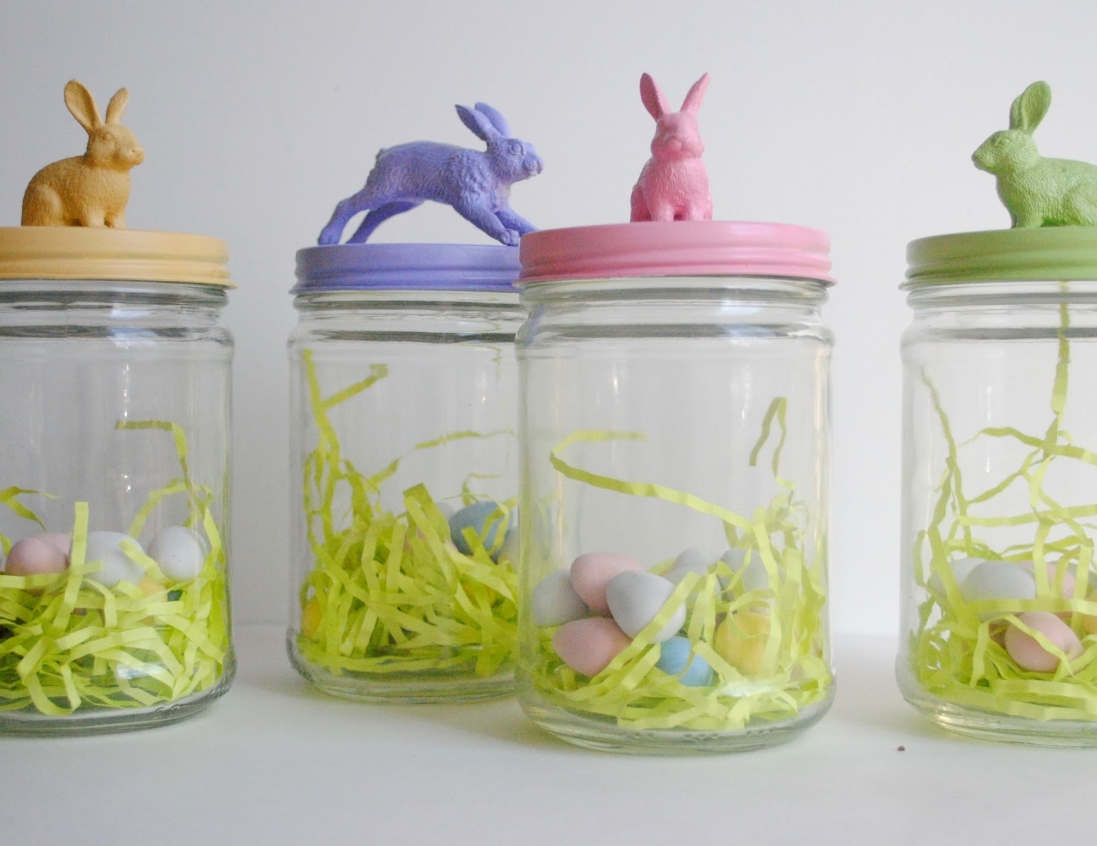 easter bunny treat jars