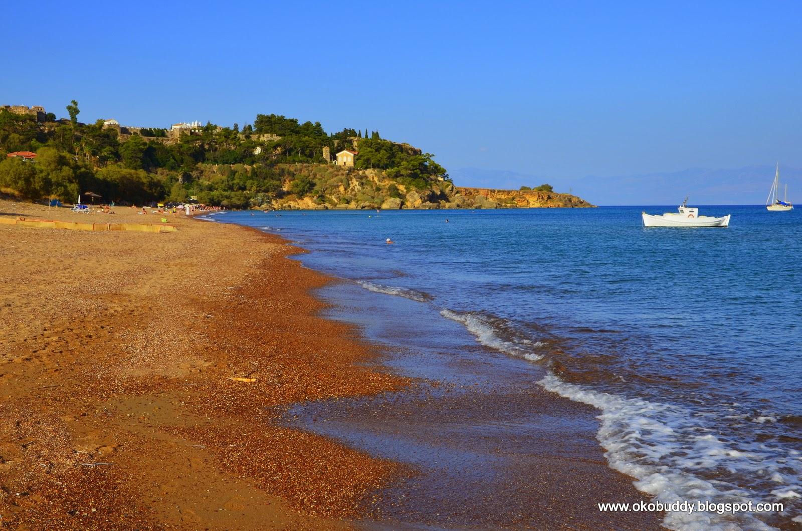 Plaża Koroni. Grecja