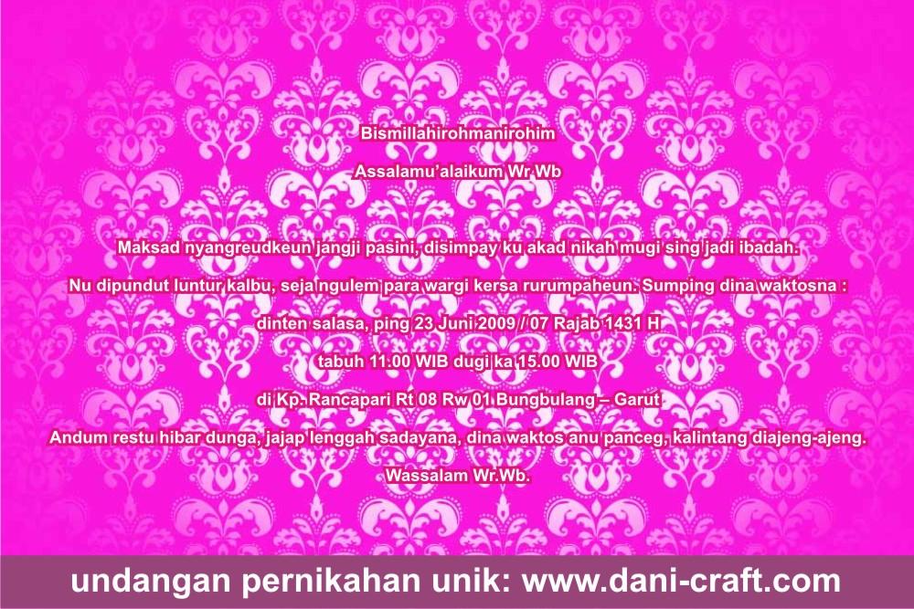 Contoh Undangan Bahasa Sunda