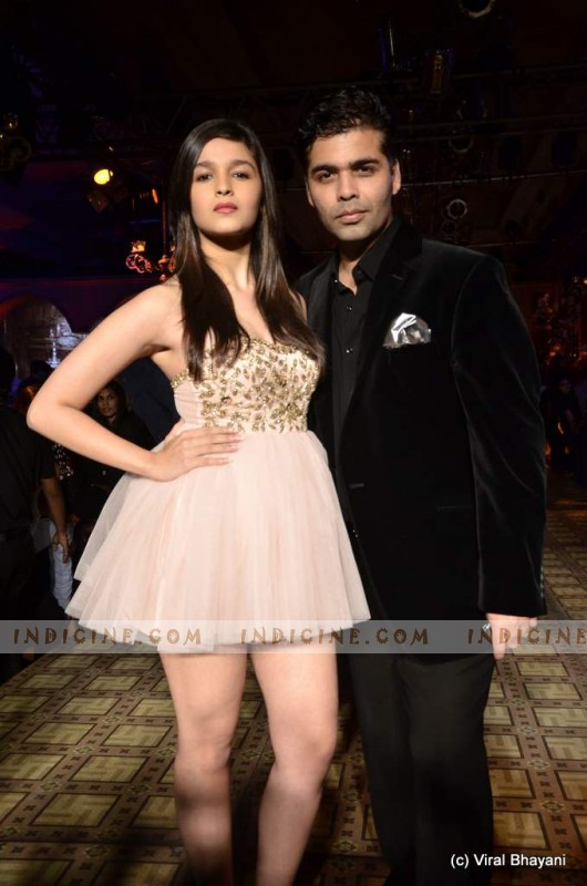 alia bhatt naked leg with Producer Karan Johar