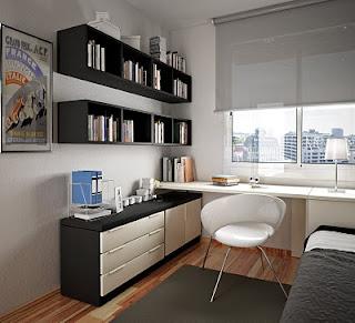 Zona de estudo moderna decorada