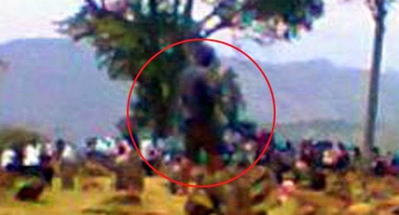 Penampakan Hantu Raksasa Berhasil Diabadikan di Gunung Padang