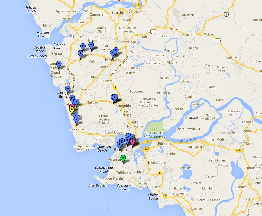 Map of Design Stores in Goa