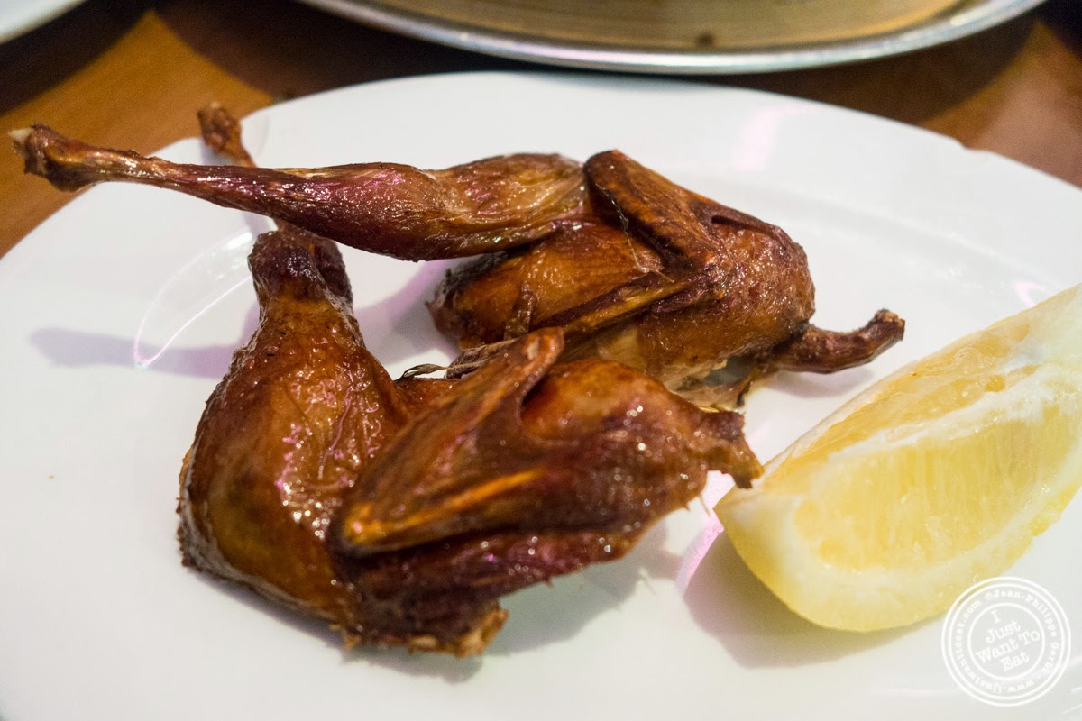image of fried quail at Joe's Shanghai in New York, NY