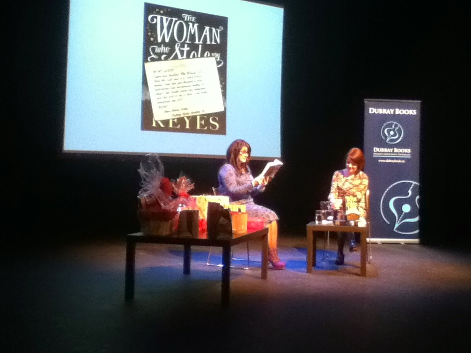 Marian Keyes (left) reading an excerpt from her new book, The Woman who Stole my Life