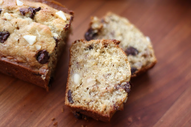Chocolate Chip Macadamia Nut Banana Bread or Muffins recipe by Barefeet In The Kitchen