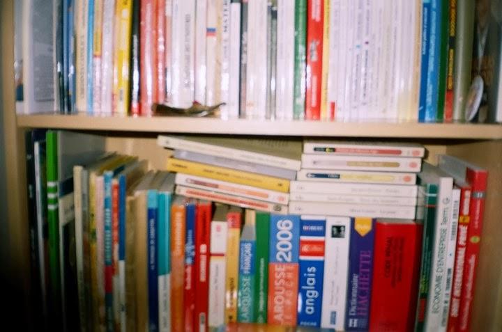 Biblioteca Oliviei Maria Marcov din anii facultatii (una din biblioteci, si o am si astazi)