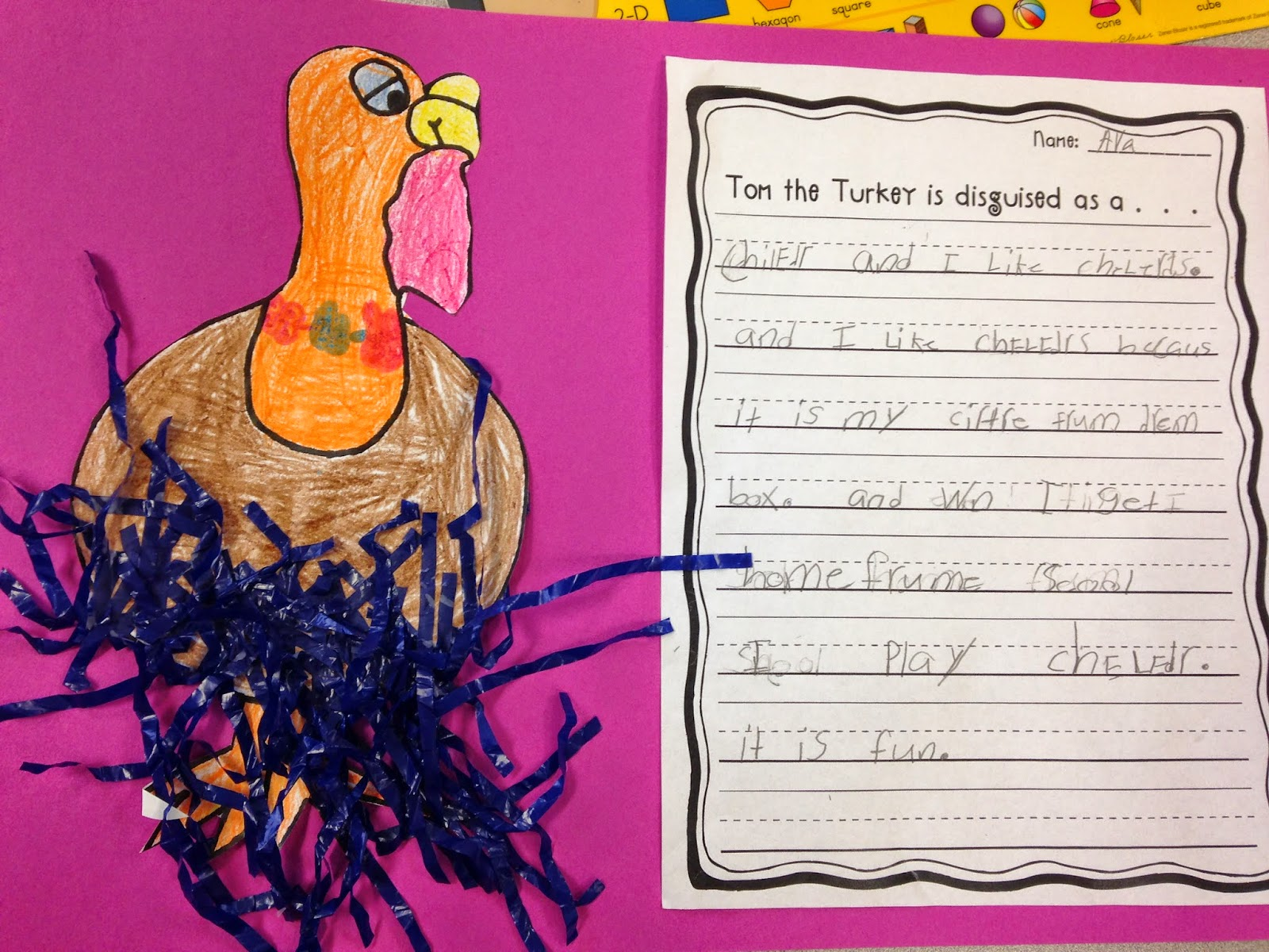the first grade lunchbox disguise tom the turkey