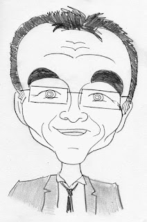 Danny Boyle caricature by Ian Davy Brown