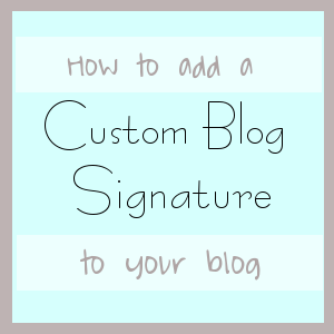 Northern Belle Diaries: How to add a custom signature or in-post Passion Fruit Ad to your blog