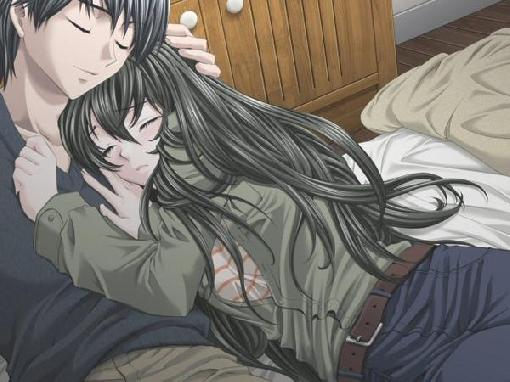 anime couples kiss. Anime Couples Lying Down.