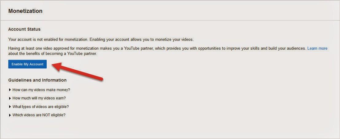 Cara Daftar Akun Adsense Lewat Youtube