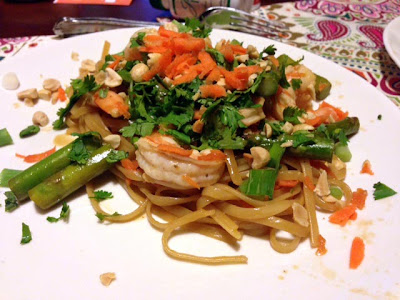 Recipe: Spicy Thai noodles with shrimp and asparagus