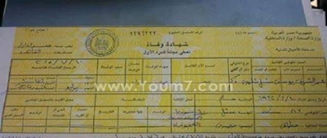 شاهد بالصور شهادة وفاة (عمر الشريف) تكشف حقيقة ديانته و حالته الإجتماعية