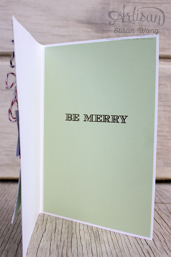Tag A Bag kit on a Card. Eat, Drink & Be Merry! (inside) ~ Susan Wong