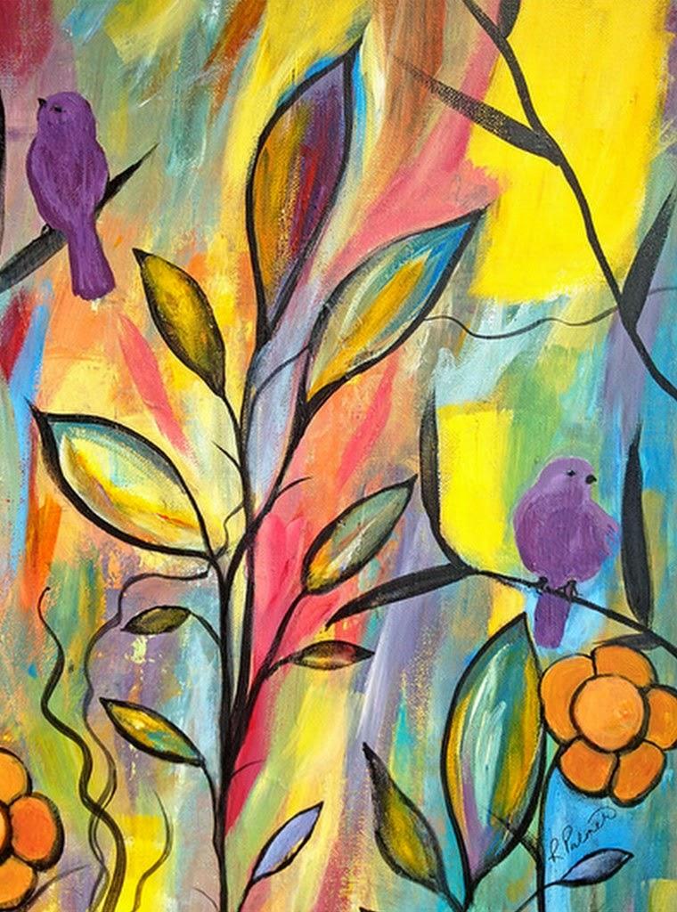 pajaritos-y-flores-pinturas-faciles