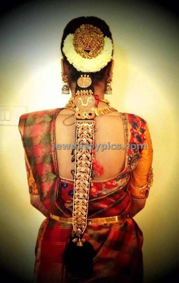 ruby kundan temple jada hair accessory for bride
