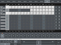 MIDI Pattern Sequencer - Song view