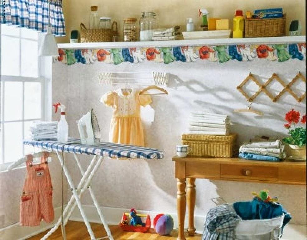 Tu organizas prateleiras na lavanderia for Lavadero decoracion