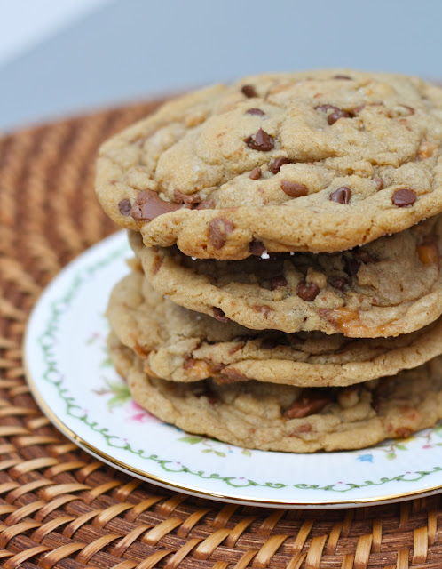 Brown Butter + Sea Salt + Rolo + Toffee Chunk Chocolate Chip Cookies