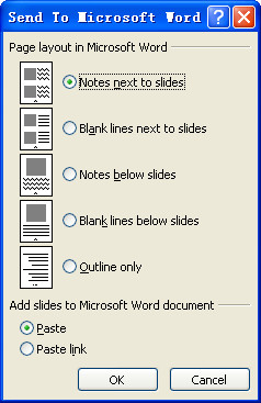 Send to Microsoft Word