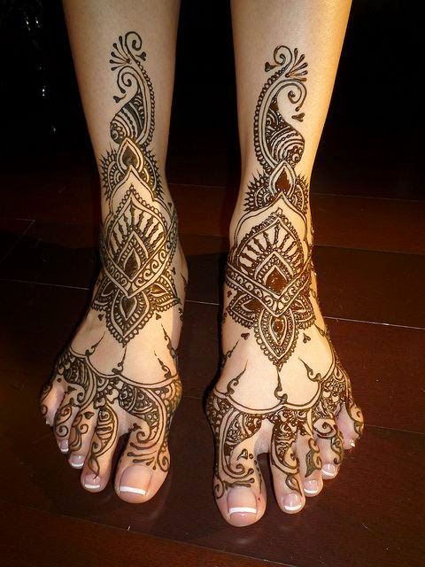 Feet Mehndi Designs Bridal : New mehndi design for bridal feet just