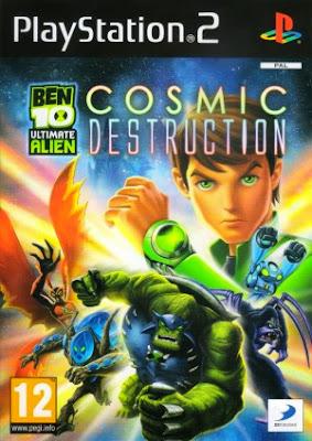 Ben 10 Ultimate Alien Cosmic Destruction PS2 ISO Cover