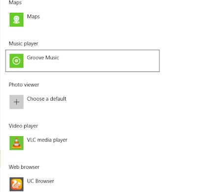 "Scroll down & choose ""Music Player"" option"