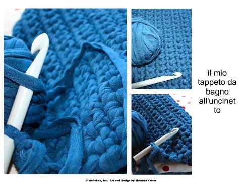 Maglia...ed altre piccole passioni: tappeto da bagno con la fettuccia