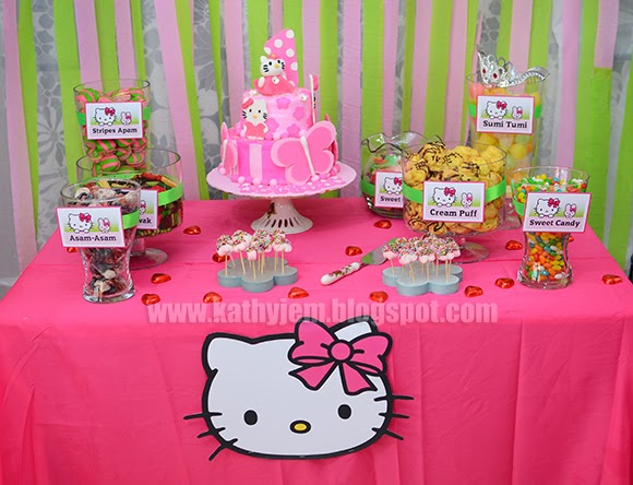 kathyjem Hello Kitty Decorations for 1st Birthday Raiisah
