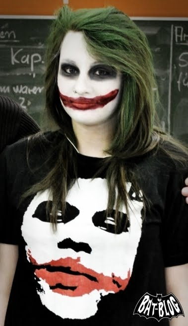 joker without his makeup. with awesome JOKER Make-Up