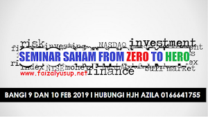 SEMINAR SAHAM FROM ZERO TO HERO
