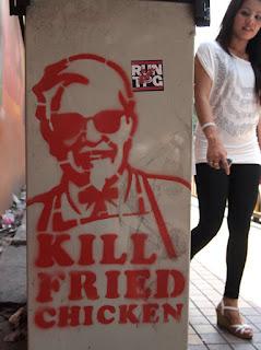 Kill Fried Chicken - street grafitti, Kuala Lumpur