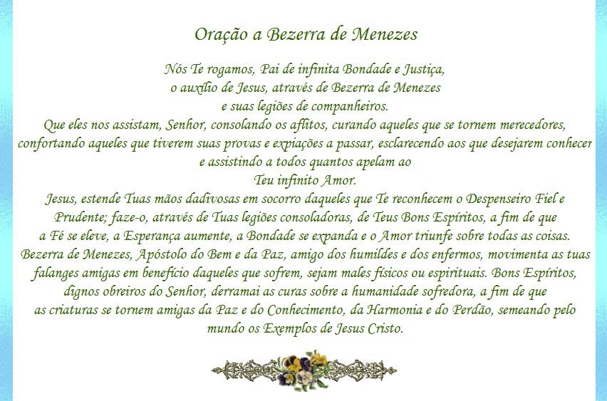 Famosos Espiritos de Luz: Oração a Bezerra de Menezes MX44