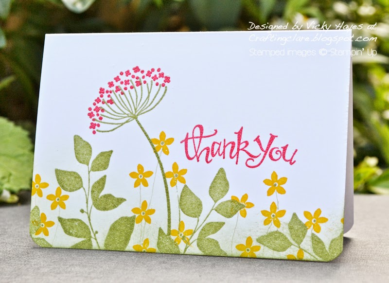 card made with stampin up products available online from Vicky at Crafting clares paper moments