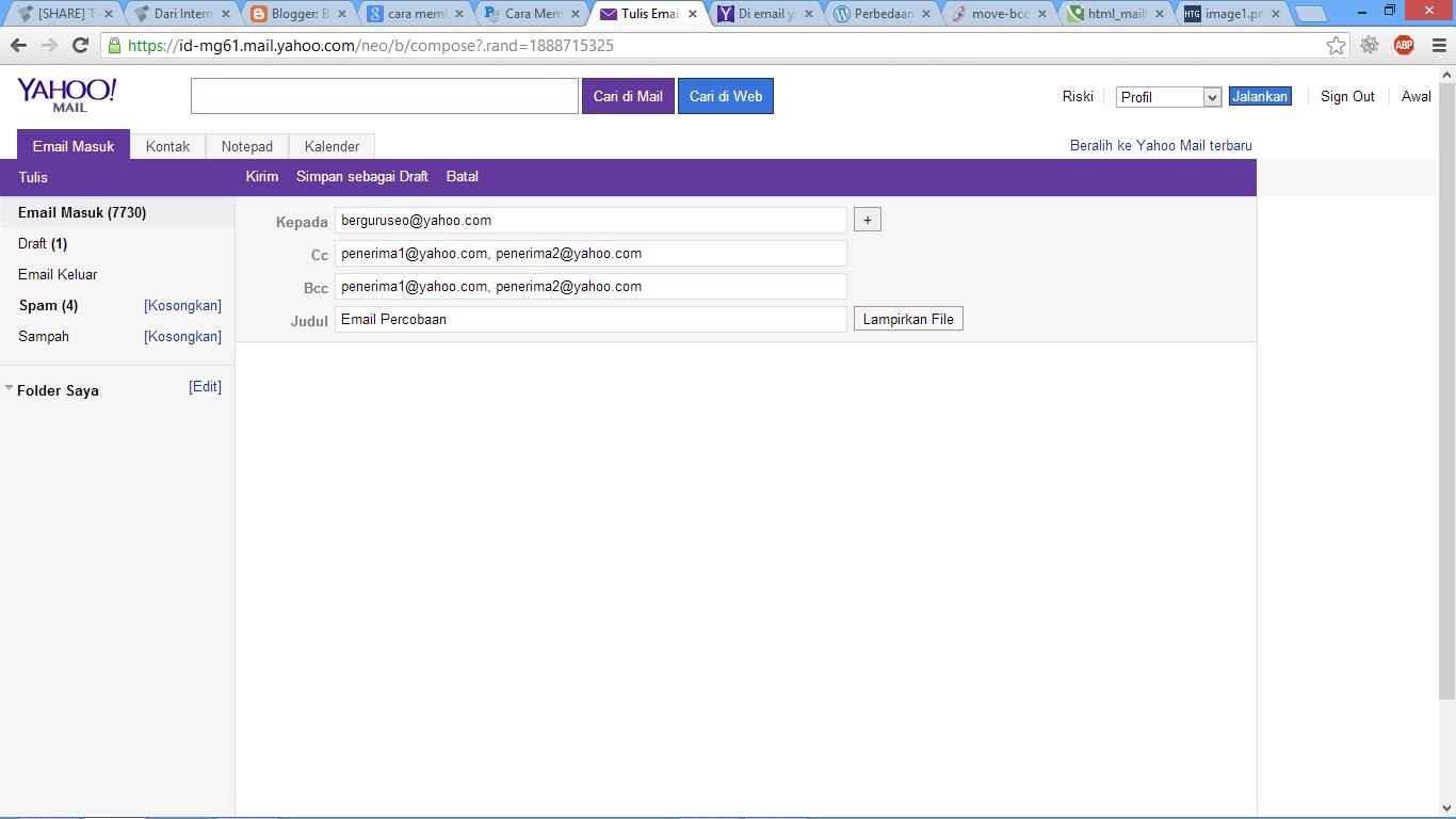 Cara Menulis Email di Yahoo Indonesia gambar 2