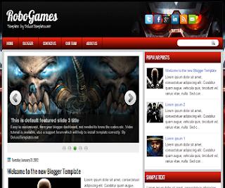 RoboGames+Blogger+Template