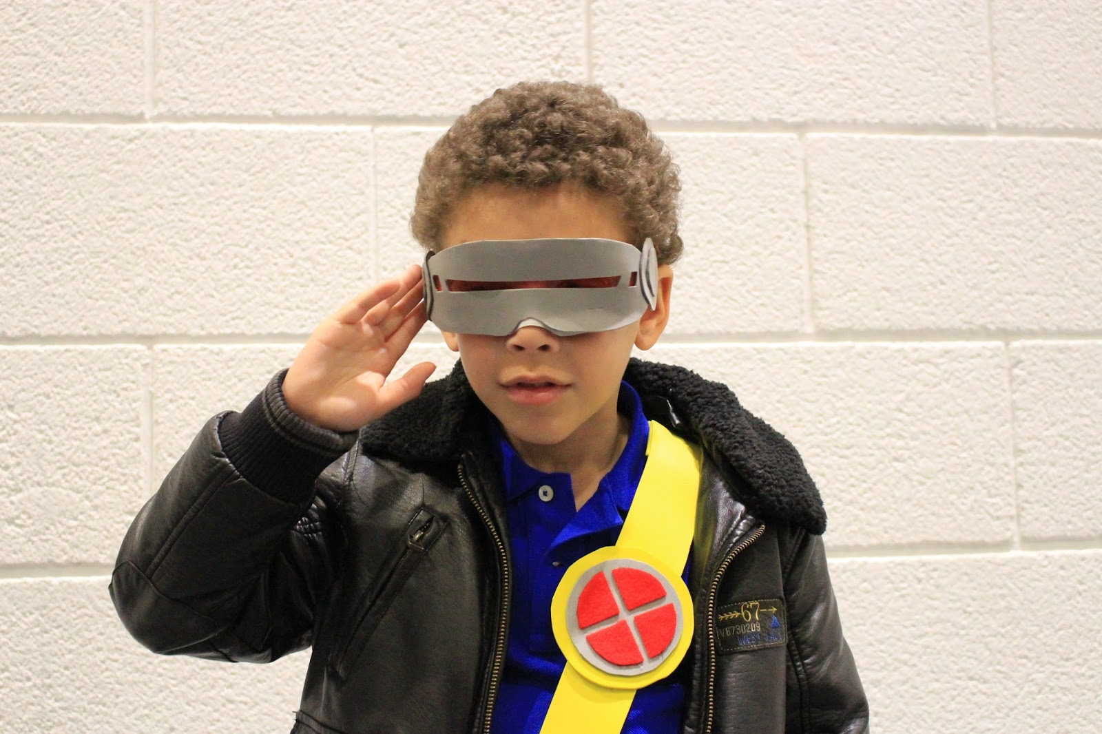 Lucas cosplaying at Cyclops at the London Super Comics Con