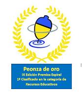 BLOG GANADOR PEONZA DE ORO. IX PREMIOS ESPIRAL 2015. CATEGORÍA RECURSOS EDUCATIVOS